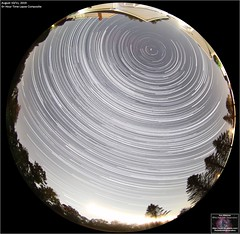 Six Hour Star Trail Composite Image (The Dark Side Observatory) Tags: tomwildoner night sky deepsky space outerspace astronomy astronomer science canon canon6d deepspace weatherly pennsylvania observatory darksideobservatory stars star tdsobservatory earthskyscience perseids meteorshower meteor lensbaby fisheye august 2019