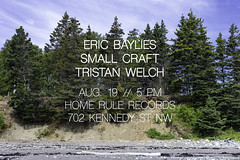 August 19 at Home Rule Records (Beau Finley) Tags: flyer beaufinley flier show concert gig tristanwelch smallcraft ericbaylies hrrecords dc washingtondc districtofcolumbia homerulerecords