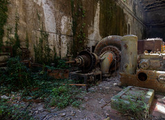 Turbine (Hooismans) Tags: abandoned abandon abandonné abandonnée abbandonato abbandonata ancien ancienne alone architecture explorationurbaine exploration explore exploring empty explo explored distillery trespassing rust rusty ruins rotten urbex urban urbain urbaine urbanexploration interdit interior inside inexplore old past photography decay decaying derelict dust decayed dusty forgotten forbidden lost light nobody neglected building verlassen creepy huge industrial factory ceiling people arch road sign tree sky powerplant centrale controlroom turbine