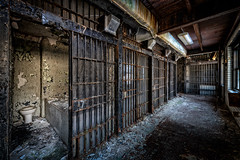 Holding Cells (Frank C. Grace (Trig Photography)) Tags: fallriver massachusetts unitedstatesofamerica newengland abandoned urbex urbanexploration jail bedfordstreet bedfordstreetjail historic history prison policestation bedfordstreetstation contaminated old forgotten redevelopment frpd highstreet recordsdepartment court crime criminal nikon d850 trigphotography frankcgrace on1pics decay rusty rust jailcell cell confinement 1916 hdr highdynamicrange photography