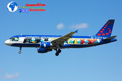 """Brussels Airlines Airbus A320-214 OO-SND """"Smurfs"""" (Mario Alberto Ravasio) Tags: brussels airlines airbus a320214 oosnd smurfs planespotting"""