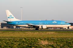 PH-BDT (PlanePixNase) Tags: amsterdam ams eham schiphol planespotting airport aircraft klm boeing 737 737400 b734