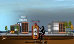 Hotel Voramar (Amparo Higón) Tags: hotelvoramar comunidadvalenciana playa verano cabinadeteléfono cieloazul telephonebox beach summer bluesky people hotel edificios building digitalart digitalpainting smartphone vectorpainting vectorart kunst modernekunst modernart artecontemporáneo amparohigón coreldraw