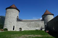 Towers @ Courtyard @ Château des Sires de Faucigny @ Bonneville (*_*) Tags: 2019 ete summer august afternoon sunny europe france hautesavoie 74 bonneville faucigny savoie mountain castle chateau medieval chateaudessiresdefaucigny