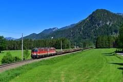 """1142 694 """"ÖBB"""" Roßleithen (Matthias Greinwald) Tags: 1142 tandem 693 öbb österreichische bundesbahn rosleithen güterzug zug pyhrn"""
