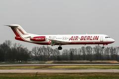 D-AGPO (PlanePixNase) Tags: aircraft airport planespotting haj eddv hannover langenhagen airberlin fokker f100 100