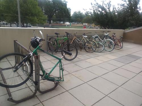 Sad bike parking in Arlington VA ©  Michael Neubert