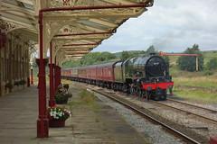 Scot on Test (Callum Nicolson) Tags: wcrc wcr west coast railways railway company carnforth 10a hellifield 5m50 test 46115 scots guardsman steam mainline lms
