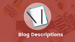 Blog Descriptions (Shehraj) Tags: blog description blogging blogger seo