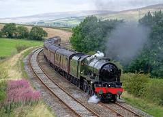 46115: Loaded Test (Gerald Nicholl) Tags: stanier scotsguardsman 46115 6115 eldroth kettlesbeck carnforth hellifield steam engine loco express locomotive train lms