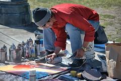Spray Can Painter (Scott 97006) Tags: man artist painter spray cans