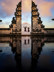 Lempuyang temple (anekphoto) Tags: summer traveler trip girl indonesian volcano gates holiday heaven romantic freedom statue traditional mountain destination couple reflection mirror vacation sculpture agung hinduism pura lempuyang happy love jume travel temple asia architecture bali tourist tourism indonesia ancient landscape religion asian monument old landmark view gate outdoor lifestyle woman hindu building balinese