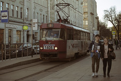 Moscow tram (Lyutik966) Tags: tram transport street moscow people building russia city capital