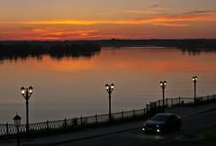 Sunset_Uglich_Volga (Lyutik966) Tags: sunset river volga uglich russia embankment lamp car landscape exquisitesunsets