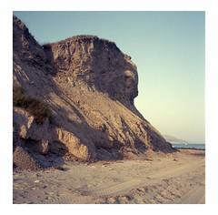Erosion (ADMurr) Tags: california coast sbcounty geology cliff head rolleiflex 35 kodak ektar 6x6 square mf dba988