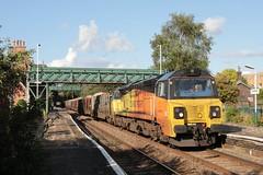 70815 at Frodsham, 7.8.2019 (Woodvale) Tags: train railway 70815 colas frodsham 6j37