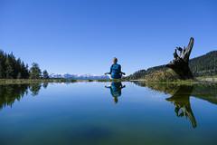 Zen (CoolMcFlash) Tags: person woman yoga zen reflection water lake landscape ramsau styria austria spiegelung relax blue sky frau sitzen entspannen wasser see landschaft blau himmel fotografie photography xf18135mmf3556r lm ois wr fujifilm xt2 mountain gebirge berge view österreich