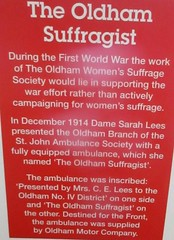Oldham Local Interest Centre Exhibition: Oldham pre-NHS (Diego Sideburns) Tags: oldham prenhs oldhamhealthprenhs nhs publichealth suffragist oldhamwomenssuffragesociety damesarahlees theoldhamsuffragist ambulance