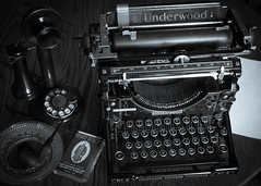 Underwood Nº 4 Typewriter and Western Electric Candlestick Phone (Earley Photography) Tags: underwood westernelectric typewriter candlestick phone vintage type pipe tobacco princealbert