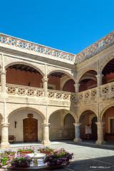 Patio del Castillo de Luna (moligardf) Tags: arquitectura ayuntamiento edificio cultura sigloxvi
