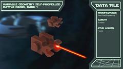 Star Wars Fleet Data Files (2bricks_official) Tags: star wars lego micro scale fleet series prequel episode 1 phantom menace landing craft droid tank droideka battle