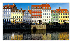 Nyhavn 17 (Jean-Louis DUMAS) Tags: hdr danemark eau water colors couleurs trip travel voyage reflecting réflection reflets canal maisons copenhague sony