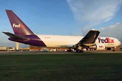 N297FE FedEx Express 767-32LF at KCLE (GeorgeM757) Tags: n297fe 4ksw808 silkway fedexexpress federalexpress 76732lf 767f georgem757 aircraft aviation airport kcle clevelandhopkins boeing canons100 freighter