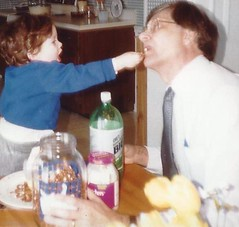 Feb. 89 James feeding dad (jmbder) Tags: james 1989 fred