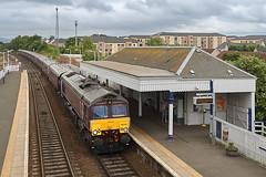 🚆 66743 · 🎫 1H89 1345 Edinburgh - Boat of Garten (ThanksDrBeeching) Tags: train railway pociąg kolej zug bahn eisenbahn dalmeny 66743