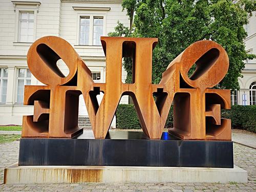 LOVE sculpture in front of the Hamburger Bahnhof
