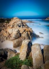 Rocks in the Mist No.8 (CDay DaytimeStudios w /1 Million views) Tags: ca pebblebeach water 17miledrive pacificcoasthighway bluesky california highway1 montereyca pacificgrove carmelca ocean pacificcoast beach sky seascape coastline landscape rocks montereybay