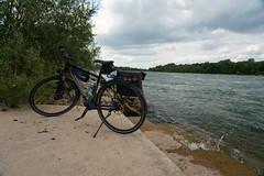 Biketour (Lutz Blohm) Tags: biketour fahrradtour stevensp18 pinionp118getriebe rhein rheinufer fluskilometer418 sonyfe24105mmf4goss sonyalpha7aiii