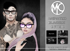 Misschevious - Animated Glasses Goth (Darkykins) Tags: glasses saturday sale animated cute goth