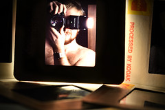Chapter closed. A 40 year old Selfie (PentlandPirate of the North) Tags: kodak slide 35mm film kodachrome selfie pentaxlx transparency closed macromondays hmm