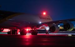 MSP N608UP (Moments In Flight) Tags: minneapolisstpaulinternationalairport msp kmsp mspairport n608up 747 7478 7478f jumbojet queenoftheskies flybynight boeing b748 avgeek aviation night