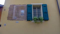 """Dozza, """"Finestra sulla valle"""". Di Contini Emilio -1969 (Vincenzo P. (Bologna)) Tags: arte paint window finestra colori colors dozza wall"""