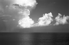 Clouds at Sea  (Astrum FN-64) (Harald Philipp) Tags: atlantic ocean sea blackandwhite rollei 35se rangefinder viewfinder film analog astrum svema fn64 35mm 135 selfdeveloped homedeveloped miami miamibeach florida usa mar mer mare meer