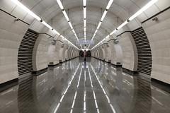 Station (gubanov77) Tags: metro subway underground station okruzhnaya transport russia moscow city urban metropoliten moscowmetro moscowphotography architecture interior symmetry design