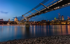"Just Across the Thames (""The Wanderer's Eye Photography"") Tags: 2019 bangalore bluehour canoneos450d canoneosdslr canoneosrebelxsi digitalphotography dusk england india london milleniumbridge photography rubenalexander stpaulcathedral stpauls susanalexander thames thewandererseyephotography time twilight uk architecture bridge britain british city cityscape clouds dome europe evening footbridge illuminated landscape londoner londonist longexposure millenniumbridge modern night nightphotography nightscape outdoors river scene sky skyline slowshutterspeed sunset tourism travel urban lightpainting"