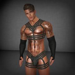 feeling a little dom! (wolvie gymnast) Tags: ass man tan gay tattoo muscle model matova nude belleza pornstar