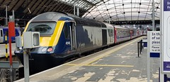 Abellio Scotrail Inter7City Class 43 HST Powercar 43149 at Glasgow Queen Platform 5 having arrived in with service 1T98 (14-08-19) (Rikki Cameron) Tags: trains abellio scotrail class43 hst 43149 43163 express emptycoachingstock exfgw mtu 125