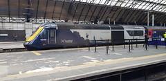 Abellio Scotrail Inter7City Class 43 HST 43149 at Glasgow Queen Street Platform 5 having arrived in with service 1T98 (14-08-19) (Rikki Cameron) Tags: trains abellio scotrail class43 hst inter7city 43149 43163 express emptycoachingstock exfgw