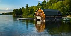 Boathouse on West Grand Lake (Adam Woodworth) Tags: boathouse dock grandlakestream lake maine newengland sunset westgrandlake