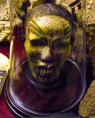 I Still Have Most of My Teeth (Steve Taylor (Photography)) Tags: head teeth sensualists tattoo dome book museum yellow purple scary eerie uk gb england greatbritain unitedkingdom london glass viktorwyndmuseum tribal