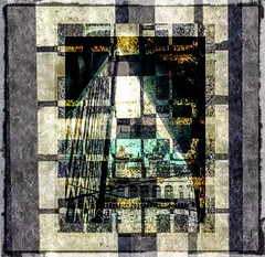 """Abstracted and Grunged"" (Marcia Portess-Thanks for a million+ views.) Tags: downtown centro vancouvercanada cathedralplace hotelvancouver triangles rectangles squares lines blocks edificios architecture buildings windows photomanipulation contemporaryart elartedigital digitalart elarte art worn aged grimy grunge abstracto abstract marciaportess marciaaportess map abstractedandgrunged"