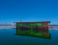 Restroom Reflections (Nocturnal Kansas) Tags: night nocturnal moon full spa sea salton bathroom longexposure nightphotography lightpainting california d800 nikon led1 protomachines