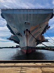 US Aircraft carrier docked in NJ (Marianna Gabrielyan) Tags: ship aircraft carrier sky military army delaware river new jersey