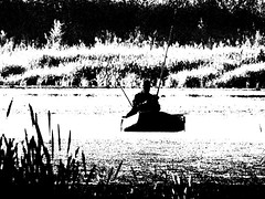 Fisherman on the lake. Monochrome. (ALEKSANDR RYBAK) Tags: изображения рыбак рыбалка хобби увлечение отдых озеро вода лето сезон утро монохромный лодка камыш человек мужчина удочки берег растительность плыть images fisherman fishing hobby enthusiasm relaxation lake water summer season morning monochrome boat reeds person man rods coast vegetation sail