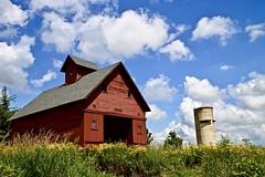 Peck Farm - Geneva IL (Meridith112) Tags: peckfarm geneva genevaparkdistrict il illinois kanecounty nikon nikon2485 nikond610 farm prairie bluesky sky clouds cloud barn redbarn prairierestoration prairiegrass 2019 summer august silo elipeck