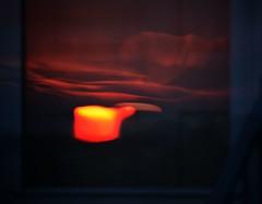 front door sunset (Moon Rhythm) Tags: abstract sunset glass onglass frontdoor reflection 2imageslayered layeredsunsets jazz orange glow lounge thruglass windowsunset stormdoor